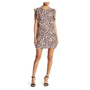 Cupcakes and cashmere leopard zelene dress